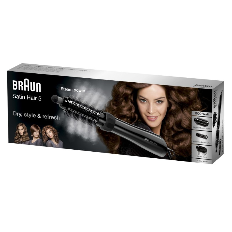 Braun Satin Hair 5 AS 530 Cepillo de aire caliente Negro, Plata, Violeta 2 m 1000 W