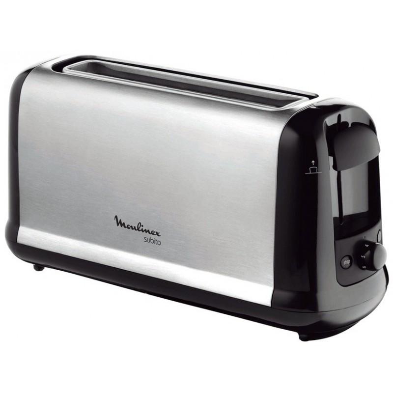Moulinex Subito 1 tostadora 1 rebanada(s) Negro, Acero inoxidable 1000 W
