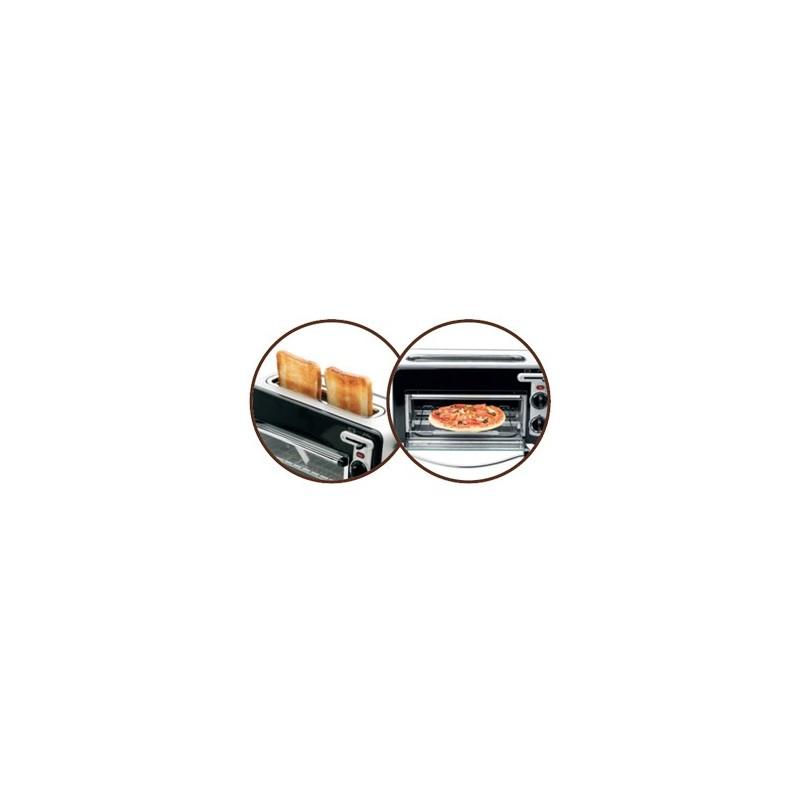 Tefal TL 6008 tostadora 2 rebanada(s) Aluminio, Negro 1300 W