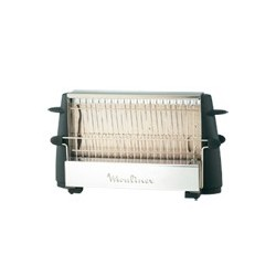 Moulinex Multipan On Off tostadora 4 rebanada(s) Negro, Acero inoxidable 760 W