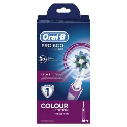 Oral-B Pro 600 Adulto Cepillo dental oscilante Púrpura
