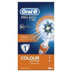 Oral-B PRO 600 CrossAction Adulto Cepillo dental sónico Naranja, Blanco