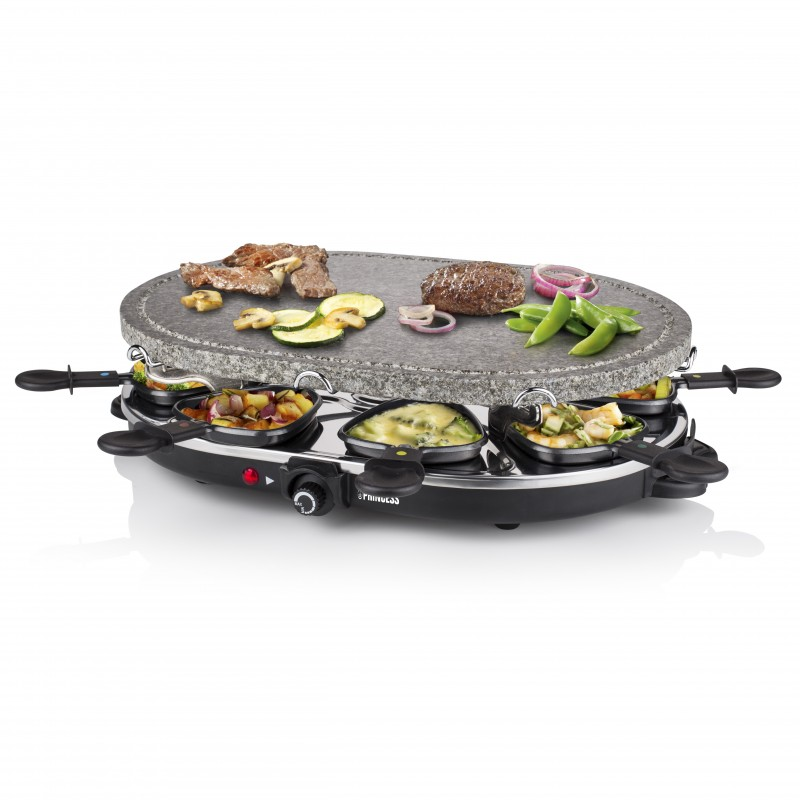 Princess 162720 Raclette 8 Oval Stone Grill Party