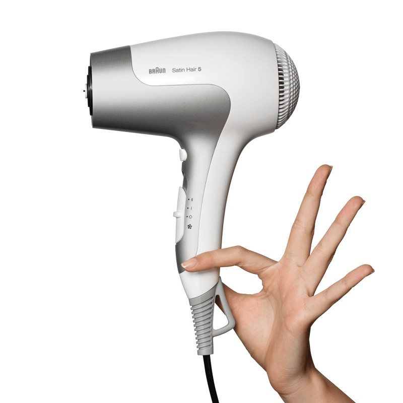 Braun Satin Hair 5 HD 585 Blanco, Plata 2500 W