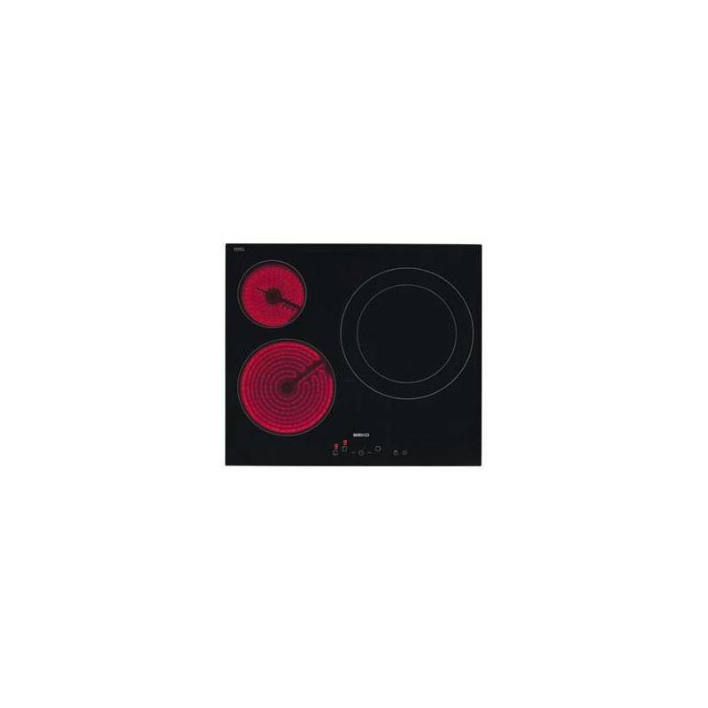 Beko HIC63401T hobs Negro Integrado Cerámico 3 zona(s)