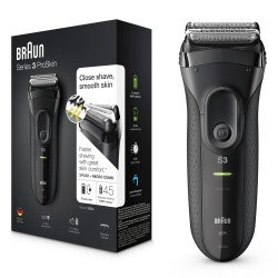 Braun Series 3 3020 Máquina de afeitar de láminas Recortadora Negro