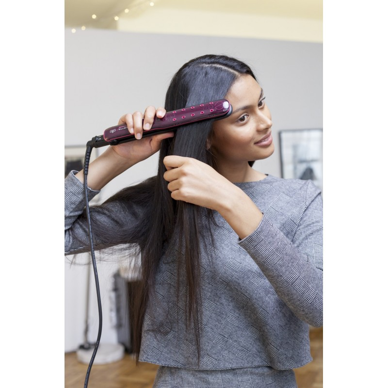 Rowenta For Elite Express Liss SF4012 Utensilio de peinado Plancha de pelo Caliente Negro, Rosa 1,8 m